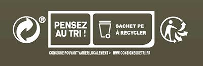 Doypack® éco reponsable - kraft film recyclable avec fenêtre