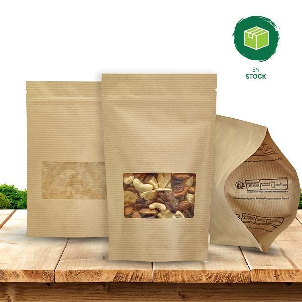 Stand-up pouch stock collection: quality and fast delivery - Deltasacs, made eco-friendly packaging in France