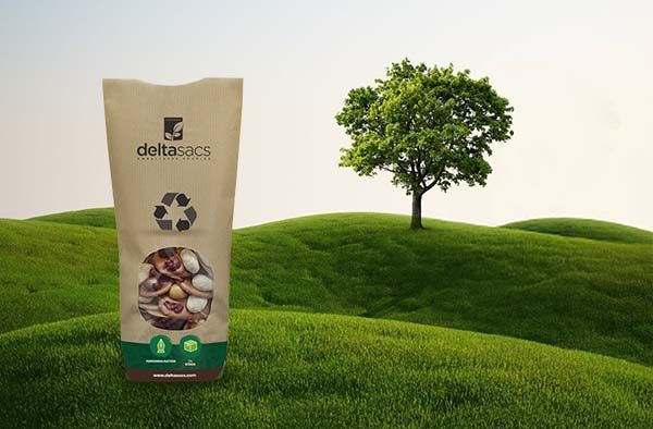 Customised hard-bottom bag: ecological and reflecting your image by Deltasacs, eco-friendly packaging specialist