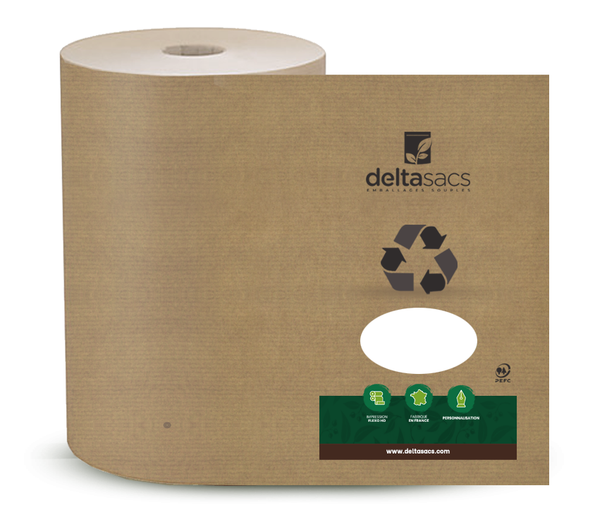 Recyclable customised spool by Deltasacs France, packaging specialist